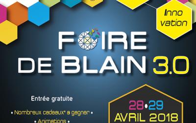 Venez nous retrouver les 28 et 29 avril 2018 à la Foire de Blain !